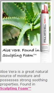 aloe vera in sculpting foam