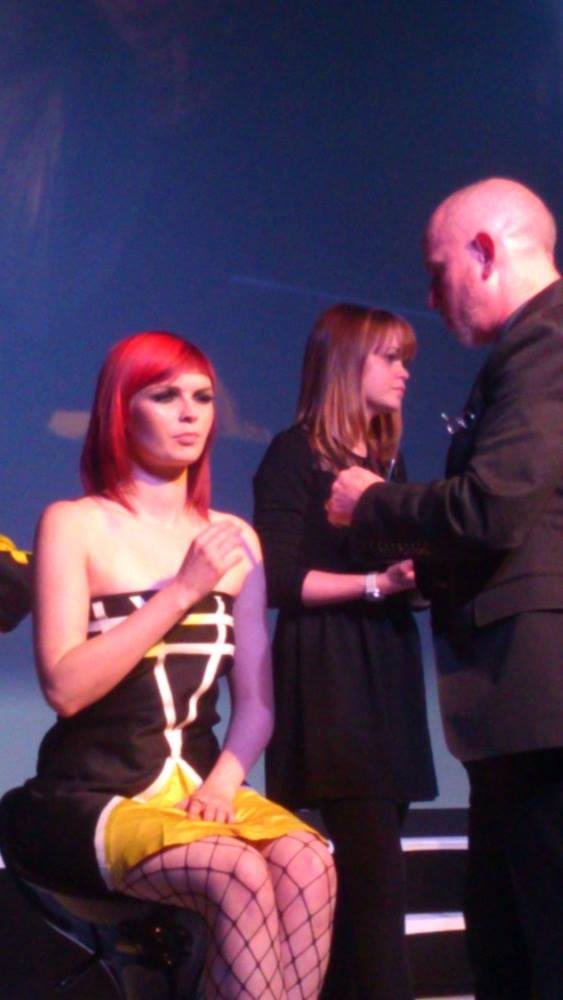Gary on Stage with Lucy Nathan