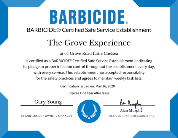 Barbicide Certified